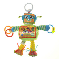 Wholesale New cm Lamaze Rusty the Robot Lovely Baby Developmental plush Toy baby rattles toys LMZPD0014