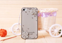 iphone 5 accessories - New Moblie Phone Accessories Cellphone Case For Iphone s s Rhinestone Flower Cover two colors