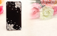 Wholesale New Moblie Phone Accessories Cellphone Case For Iphone s s Rhinestone Flower Cover two colors