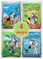 Day Packs Men Plain Children Cartoon Cute Dog Drawstring Backpack Bag, 4 Designs Can Choose,Best Birthday Party Gift For Kids, 35X27cm, 4pcs lot