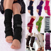 Leggings ladies socks - New Ladies Womens Dance Knitted Leg Warmers Socks Stocking Legging Boot Covers fx279