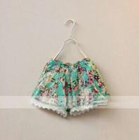 baby girl kids vintage flower shorts floral shorts short pan...