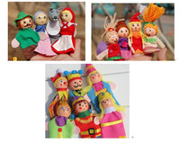 Wholesale Little red riding hood mermaids story animal gloves puppet finger puppet hand puppet for children learning and educatiaonl toys