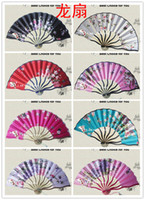 Wholesale assorted colors amp flower designs Chinese hand fans silk fabric new arrival