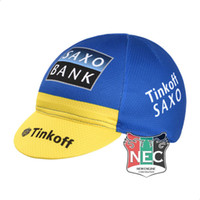 bank hat - Unisex Cycling Caps Sweat absorber SAXO BANK TINKOFF Bike Bandana SUN CAP dress hat cycling head wear sweat BAND