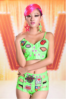 Men Kimono Asia & Pacific Islands Hip hop camouflage green phosphor female summer sexy tight vest bottoming permanent character movement sling SEXYSUGAR