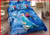 Wholesale 3D cartoon kids bedding sets frozen Princess Elsa amp Anna Olaf bed set quilt cover duvet cover quilt bedspread cotton
