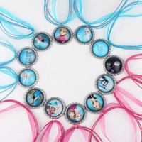 Wholesale Mixed Frozen Ribbon Necklace Charm Necklaces Elsa Anna Olaf Hans Deer Necklace Dress Accessories