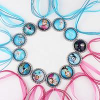 Wholesale Mixed Frozen Ribbon Necklace Charm Necklace Elsa Anna Olaf Hans Deer Necklace Dress Accessories