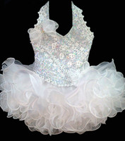 Wholesale New White infant little kids children girls mini party pageant dresses ball gowns cupcakes