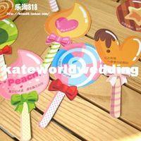 Wholesale Korean version of the lovely sweet lollipop paper bookmark message card Korea creative stationery schoolchildren prizes