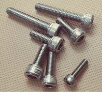Wholesale 50pcs Metric Thread M4 Stainless Steel Hex Socket Head Cap Screw Bolts