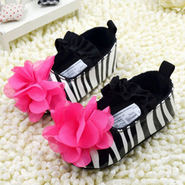 Wholesale 2014 New Baby First Walker Shoes Flower Zebra Stripe Non slip Children First Walking Shoes Anti skid Girls Toddler Shoes Infant Shoes