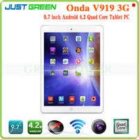 "Under $300 Onda 9.7 inch Onda V919 3G Phone Call Tablet PC MTK8382 Quad Core 16GB Rom 9.7"" IPS 1024x768px GPS Android 4.2 WCDMA FM free post"