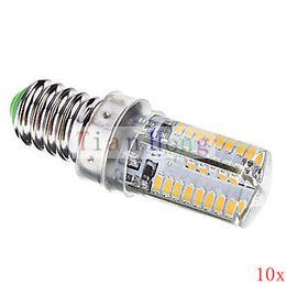 10X High Quality E14 LED Lamp 5W 220V 110V Bulb Corn Light Lighting 3014 SMD 64 LED Spotlight Crystal chandeliers