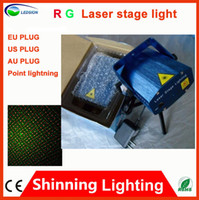 Wholesale Blue Mini Portable Manual Sound Active V RG Laser Stage lighting Projector DJ Show Wedding Dance Bar Party Light