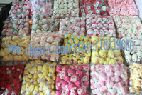 Wholesale 100pcs cute rabbit bears many animals toys with key ring Plush toy doll wedding birthday toys gift vending machine toy lovely Below cm