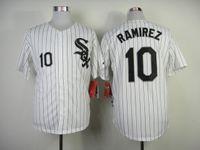 Wholesale White Sox RAMIREZ White Cool Base Baseball Jerseys with Black Pinstripe Jersey Cheap Stitched Authentic Sports Jersey Outdoor Sportswear