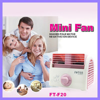 Wholesale Adjustable Table Fan Electric Mini Bladeless Fan Shaded Pole Motor Negativeion Device TF F20 V W