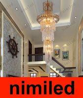 nimi356 Dia 45 / 55см Luxury Кри воздуха Гостиная Лампы светодиодные лампы Дважды Лестница отеля Инженерные огни отеля Лобби Light