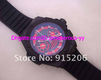 Wholesale Hot Sale Top brand racing Mens Automatic Chronograph Swiss Eta Movement Ceramic ring mm Sport Watches Sapphire rubber black