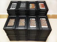 For Apple iPhone Metal  Motomo Hard Case Back Cover For iPhone 5 5S 4 4s Leopard Tiger Zebra Print Design