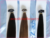 Cheap Indian Hair flatl tip hair extension Best #1b/2/4//6/8/16/18/60/613 Straight virgin hair extension