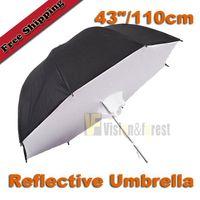 Wholesale 43 quot cm Studio Umbrella Softbox Photography Reflector Softbox with Package Reflective umbrella