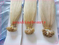 Cheap 100% Peruvian Keratin Hair Human Virgin Hair Flat-Tip Hair Extension Pre-bonded hair Extension Human Remy Hair 6A Grade 1g strand 3pcs lot