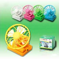 Plastic solar fan cap - High quality Mini Solar Clip Fan Cell Fan Sun Power energy Clip on Cooling Cap Fan Cooler K07815