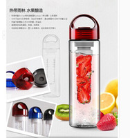 Wholesale Tritan plastic cup water bottle outside sport cqua lemon emperorship fruit cup