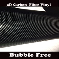 Wholesale Black D Carbon Fiber Vinyl Wrap Like realistic Carbon Fibre Film For Car wrapping With Air Bubble Size x30M Roll