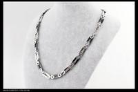 titanium snake Necklace, titanium steel necklace. black Clav...