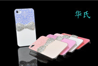Bowknot Crystal Diamond Hard Plastic Case for iPhone 5 5S