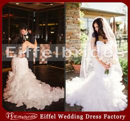 Wholesale Elegant Plus Size Wedding Dresses with Luxury Shining Beads Crystal Sash and Sexy Sweetheart Neck Stunning White Mermaid Bridal Dresses