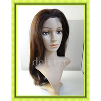 Medium Brown Straight 24 Natural Long Straight Brown Color Synthetic Hair Wig in Cheap Price Best Fashion Synthetic Hair Wig ST011