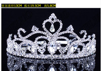 Tiaras White China-Tibet Wedding Bridal crystal veil tiara crown headband CR059
