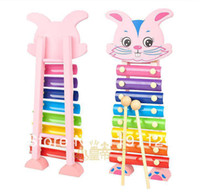 Wholesale 8 violion children hand knocking piano Guoqin octave baby xylophone toy drag toy music educational toys
