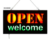 Wholesale LED Open Welcome Sign Flashing Neon Light LED Welcome Open Sign DC V Epoxy LED Sign Welcome Light Sign Yiwu Factory Direct Sale