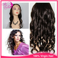 Black #1B Loose Wave Indian hair 16'' Human Front Lace Hair Direct Indian Remy Human Hair Wig Cheap Front Lace Wigs loose wave #1B