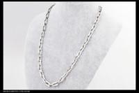 titanium snake Necklace, titanium steel necklace. silver Poli...