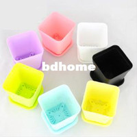 Wholesale Gardening Mini Plastic Flower Pots Vase Square Flower Bonsai Planter Nursery Pots Drop Shipping IZ0023