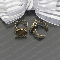 Couple Rings Jewelry Findings Metal Wholesale 18mm Antique Bronze Copper Ring settings Findings Accessories 10 pieces(J-M3163)