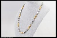 titanium snake Necklace, titanium steel necklace. Gold Spring...