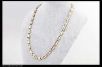titanium Magnetic Necklace, titanium steel necklace. Gold Hea...