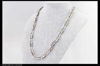 titanium snake Necklace, titanium steel necklace. Silver Spri...