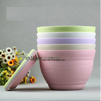 Wholesale A of Round Bowl plastic flower pot With trays flower pot feet Colorful nbj11