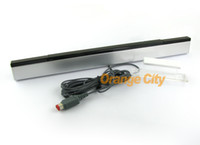 Wholesale Remote sensor bar for Nintendo wii black white colour Infrared Ray Sensor Inductor Bar drop