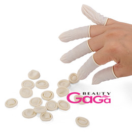 Wholesale BeautyGaGa Supply Nude Color Medium Art Salon Nail Accessory Quality Rubber Latex Finger Cots