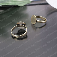 Couple Rings Jewelry Findings Metal Wholesale 18mm Antique Bronze Copper Ring settings Findings Accessories 10 pieces(J-M3408)